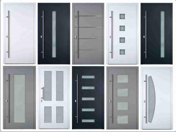 Übersicht Haustürmodelle Serie 75 mm auf Maß