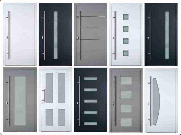 Übersicht Haustürmodelle Serie 90mm auf Maß